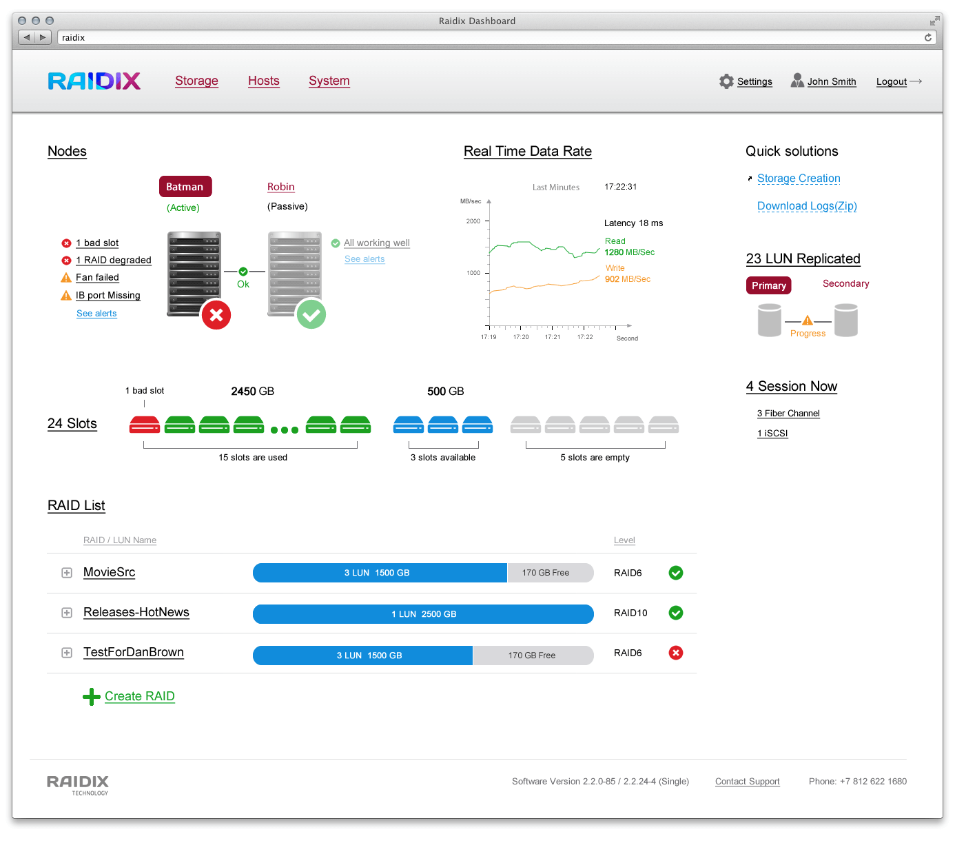 Raidix screenshot